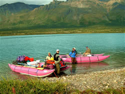 Two 18' AIRE LEOPARDS - Lower Twin Lake - Chilikadrotna River Put-In - ALASKA RAFT CONNECTION