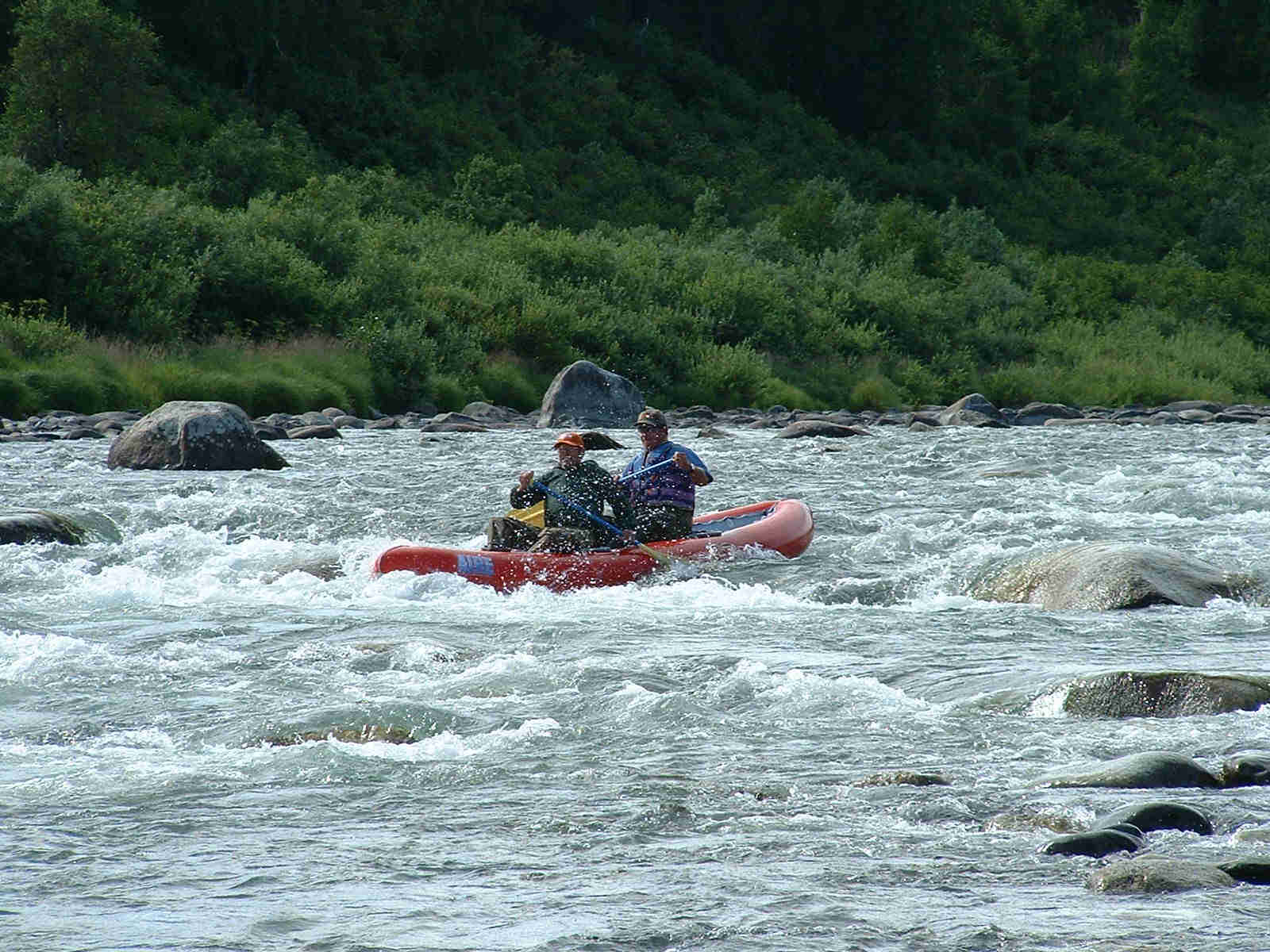 Lots of fun whitewater action on Lake Creek - AIRE TRAVELER CANOE - ALASKA RAFT CONNECTION