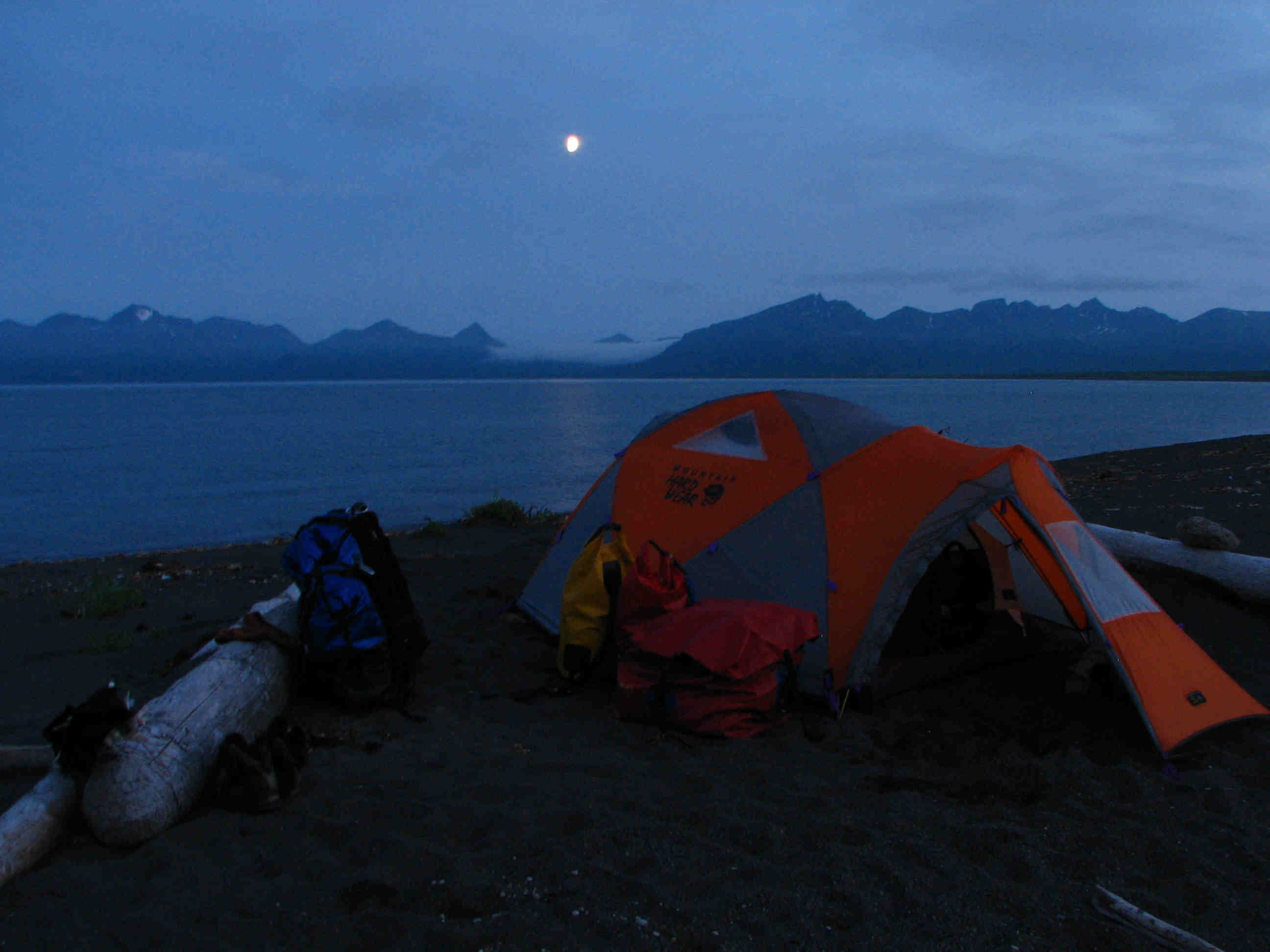 Final Camp on Aniakchak Bay - ALASKA RAFT CONNECTION