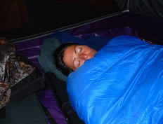 Sleeping Sound in MARMOT MOUNTAIN SLEEPING BAGS - ALASKA RAFT CONNECTION