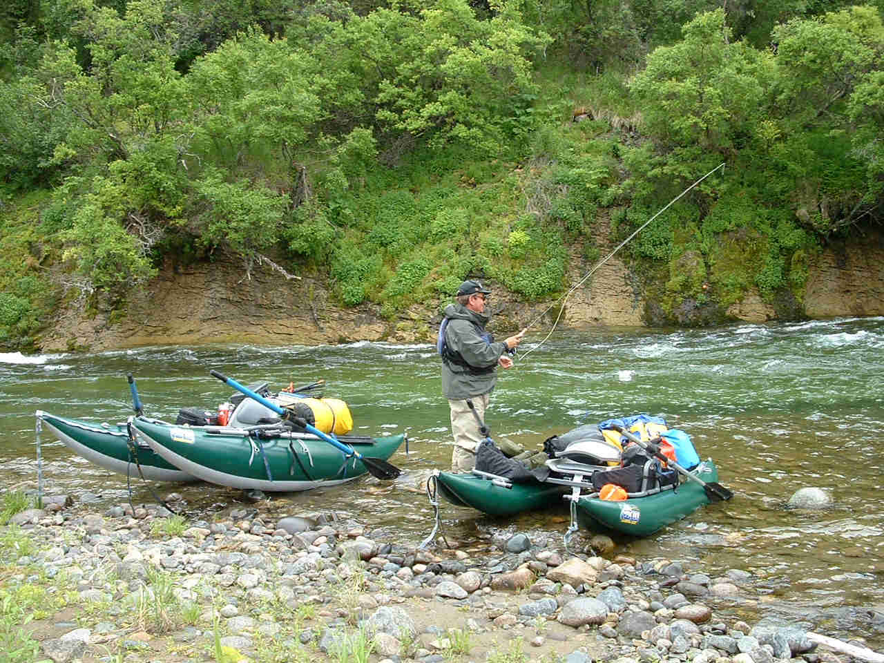 Outcast Personal Catarafts for fly fishing American Creek - ALASKA RAFT CONNECTION