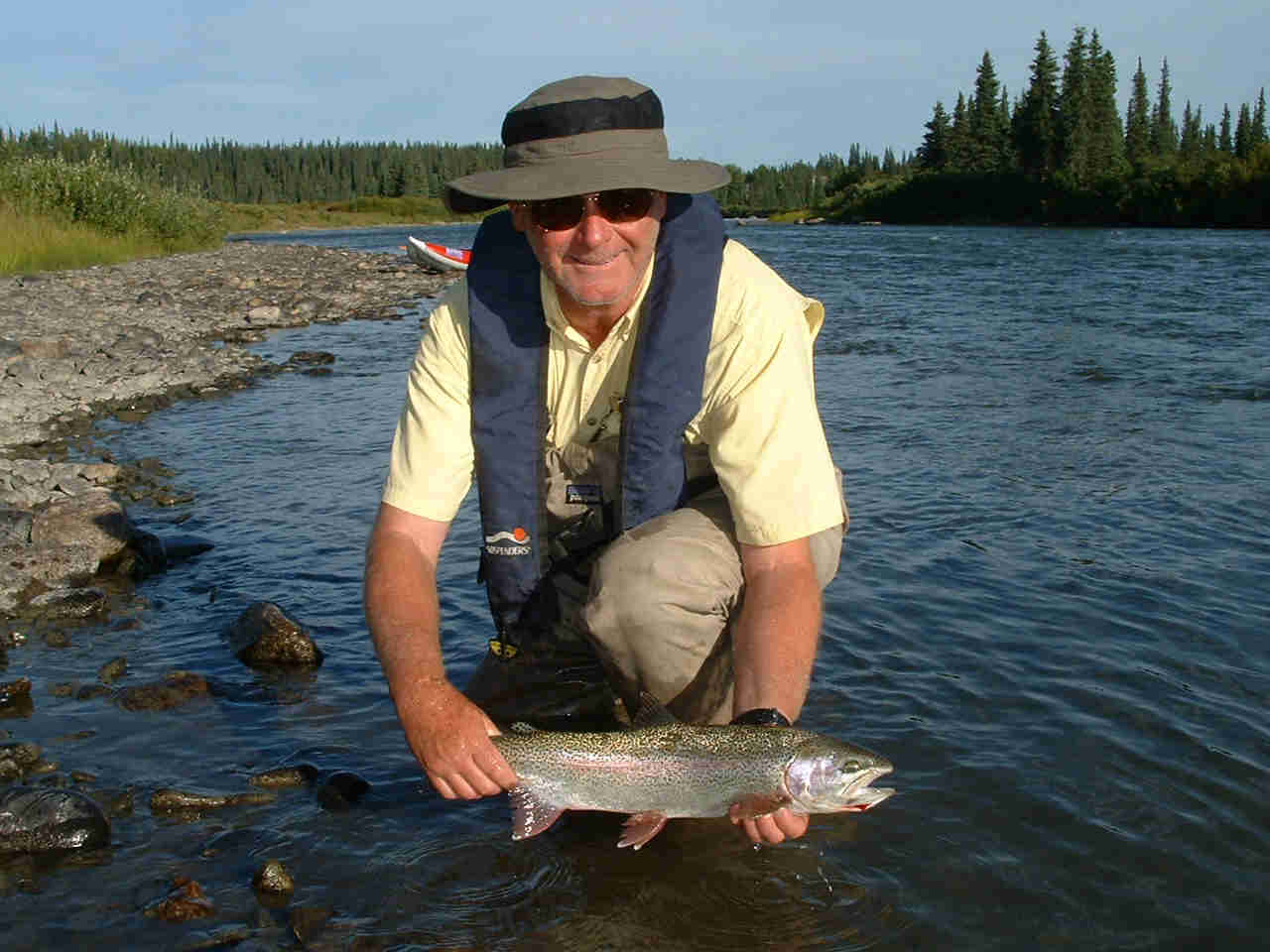 Another nice Lake Creek Rainbow Trout on the fly - ALASKA RAFT CONNECTION