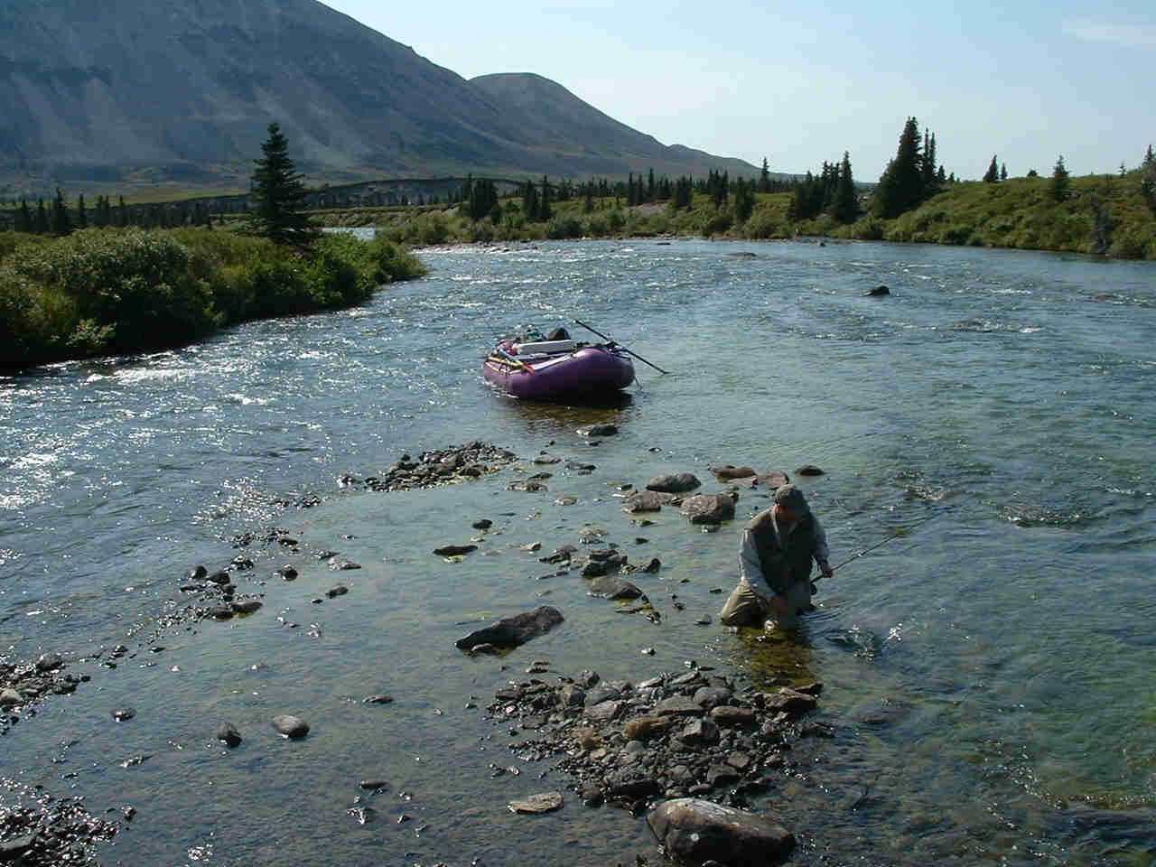 Fly-Out River Float Trips on the Chilikadrotna River - Perfect Fly-Fishing Backdrop - ALASKA RAFT CONNECTION